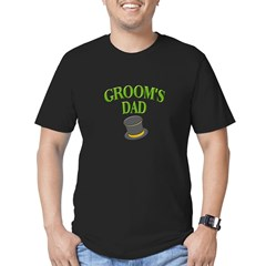 Groom's Dad(hat) Men's Fitted T-Shirt (dark)