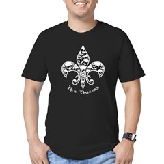 Fleur de Mor Men's Fitted T-Shirt (dark)