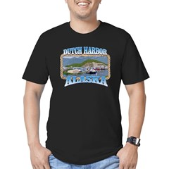 DUTCH HARBOR ALASKA Men's Fitted T-Shirt (dark)