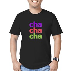 Cha Cha Cha Men's Fitted T-Shirt (dark)
