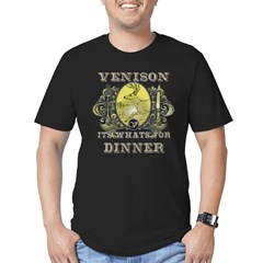 Venison its whats for dinner Men's Fitted T-Shirt (dark)