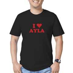 I LOVE AYLA Men's Fitted T-Shirt (dark)