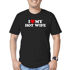 I Love My Hot Wife Men's Fitted T-Shirt (dark)