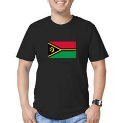 Vanuatu - Flag Men's Fitted T-Shirt (dark)