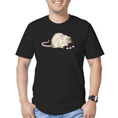 Ratty Glutton Men's Fitted T-Shirt (dark)