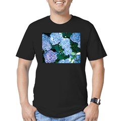 Blue Hydrangea Men's Fitted T-Shirt (dark)