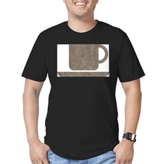 Vintage Coffee Men's Fitted T-Shirt (dark)