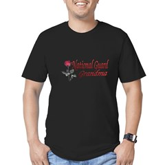national guard grandma Men's Fitted T-Shirt (dark)