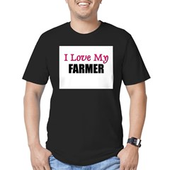 I Love My FARMER Men's Fitted T-Shirt (dark)