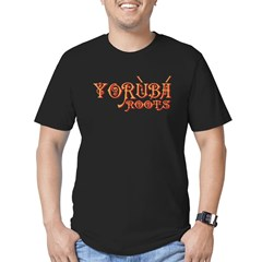 Yoruba Roots Men's Fitted T-Shirt (dark)