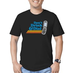 drunk dial Men's Fitted T-Shirt (dark)