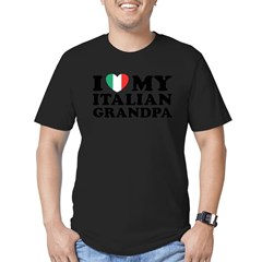 I Love My italian Grandpa Men's Fitted T-Shirt (dark)