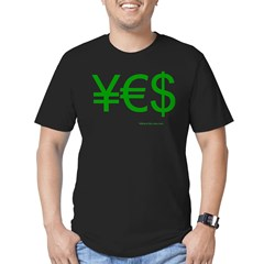 Yen Euro Dollar Men's Fitted T-Shirt (dark)