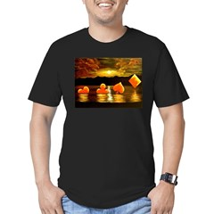 Unique Poker Art Rising Suits Men's Fitted T-Shirt (dark)