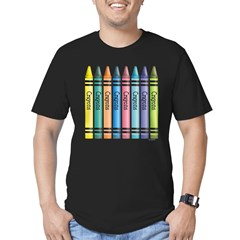 Colorful Crayons Men's Fitted T-Shirt (dark)