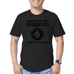 school of the americas Men's Fitted T-Shirt (dark)