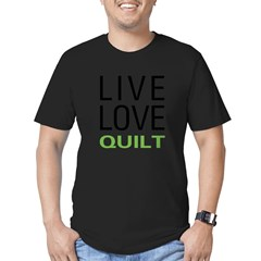 Live Love Quilt Men's Fitted T-Shirt (dark)