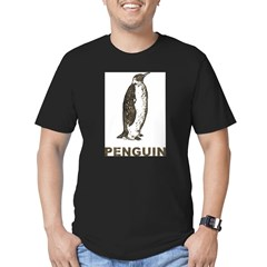 Vintage Penguin Men's Fitted T-Shirt (dark)