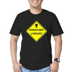 Lyricist Men's Fitted T-Shirt (dark)