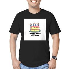 Happy 80th Birthday Men's Fitted T-Shirt (dark)