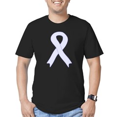 Lavender Ribbon Men's Fitted T-Shirt (dark)