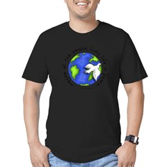 Imagine - World - Live in Peace Men's Fitted T-Shirt (dark)