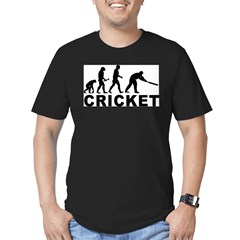Cricket Evolution Men's Fitted T-Shirt (dark)