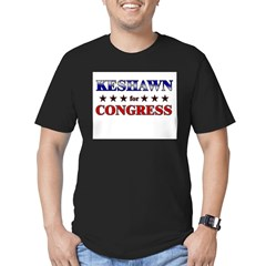 KESHAWN for congress Men's Fitted T-Shirt (dark)