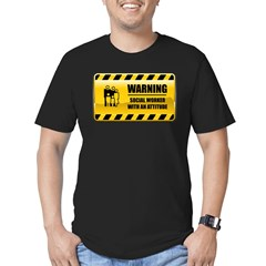 Warning Social Worker Men's Fitted T-Shirt (dark)