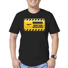 Warning Trumpet Player Men's Fitted T-Shirt (dark)