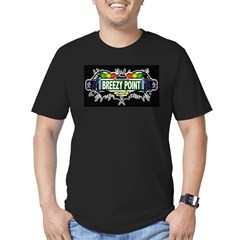 Breezy Point (Black) Men's Fitted T-Shirt (dark)
