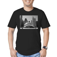 Bean, Chicago Men's Fitted T-Shirt (dark)