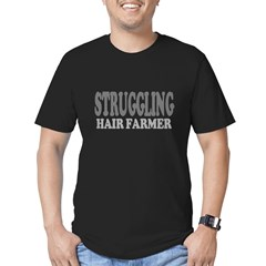Struggling Hair Farmer Men's Fitted T-Shirt (dark)