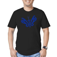Design Flies Men's Fitted T-Shirt (dark)