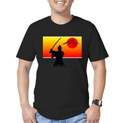 Samurai in Sun Men's Fitted T-Shirt (dark)