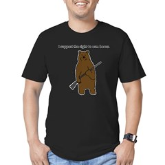 Right to Arm Bears Men's Fitted T-Shirt (dark)