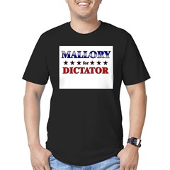 MALLORY for dictator Men's Fitted T-Shirt (dark)