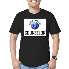 World's Greatest COUNSELOR Men's Fitted T-Shirt (dark)