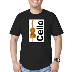 Cello Men's Fitted T-Shirt (dark)