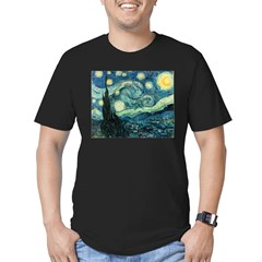 Vincent van Gogh's Starry Nigh Men's Fitted T-Shirt (dark)