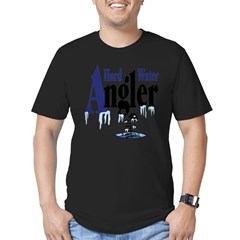 Hard Water Angler Men's Fitted T-Shirt (dark)