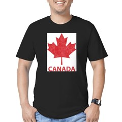 Vintage Canada Men's Fitted T-Shirt (dark)