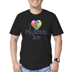 My Autistic Son Men's Fitted T-Shirt (dark)