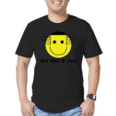 Don't Worry Be Jewish Men's Fitted T-Shirt (dark)