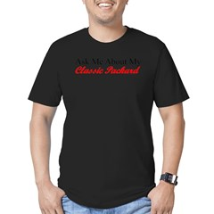 """Ask About My Packard"" Men's Fitted T-Shirt (dark)"