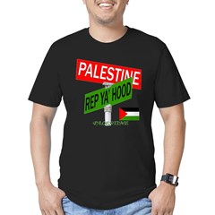 REP PALESTINE Men's Fitted T-Shirt (dark)