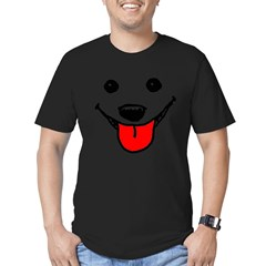 Happy Dog Face Men's Fitted T-Shirt (dark)
