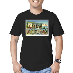 Greetings from New Hampshire Men's Fitted T-Shirt (dark)