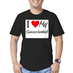 I Heart My Geoscientis Men's Fitted T-Shirt (dark)