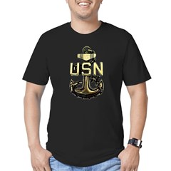CPO Anchor Men's Fitted T-Shirt (dark)